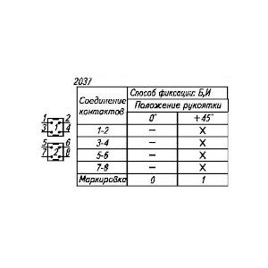 Схема перемикача ПКУ-3-54-И2037У2