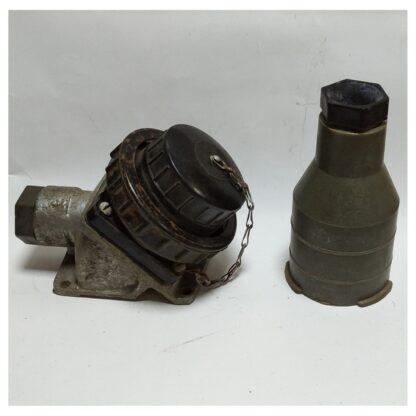 32А 380В силовая стационарная розетка с вилкой 3P+PE