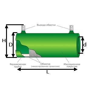 Схема резистора ПЭВР