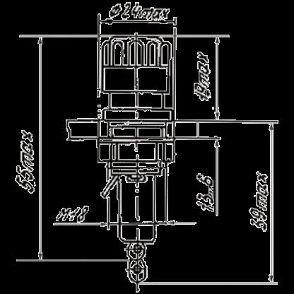 Схема ДВП-7 держателя вставки плавкой
