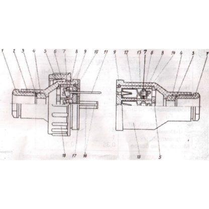 Техническая характеристика кабельного разъема ИЭ9902А-II