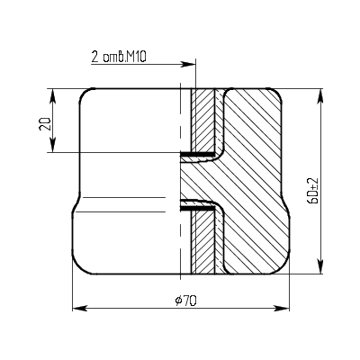 Изолятор керамический опорный армированный ИО-1-2,5-1 У3.