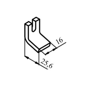Схема контакта КТ6010 (КТ7010) и КТП6010 неподвижного медного