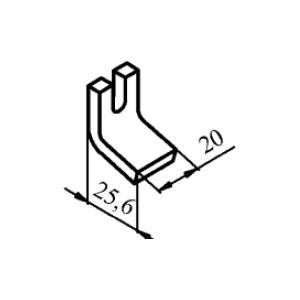 Схема контакта КТ6020 (КТ7020) и КТП6020 неподвижного медного