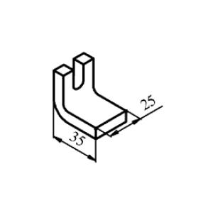 Схема контакта КТ6030 и КТП6030 неподвижного медного