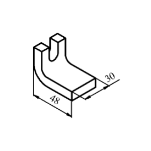 Схема контакта КТ6040 и КТП6040 неподвижного медного