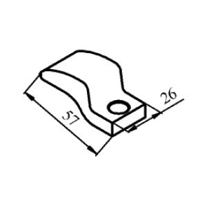 Схема контакта КТ6040 и КТП6040 подвижного медного