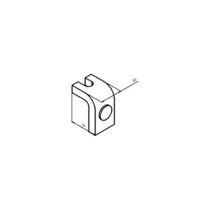 КТ-6043С контакт нерухомий з срібною напайкою до контактора