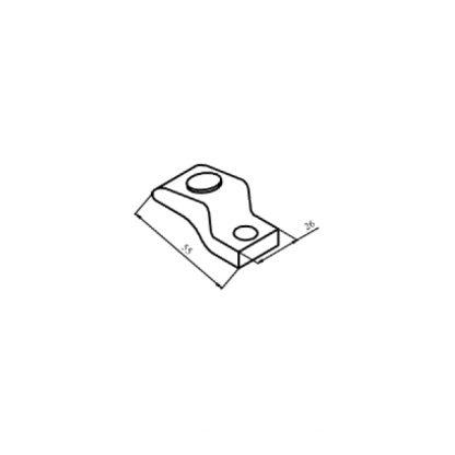 КТ-6043С контакт рухомий з срібною напайкою до контактора