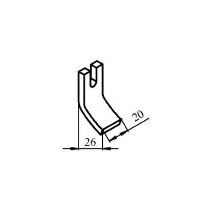 КТПВ-623 та КПВ-603 нерухомий мідний контакт до контактора