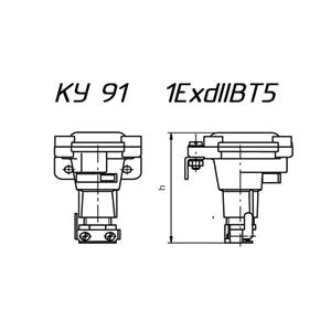 Схема кнопки КУ-91 1ExdIIВТ5