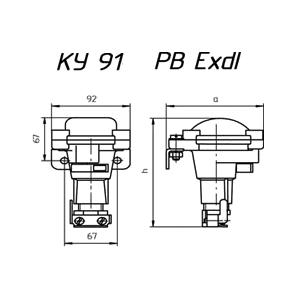 Схема кнопки КУ-91 РВ Exdl