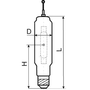 Габариты металлогалогенной лампы высокого давления типа ДРИ-2000-1М