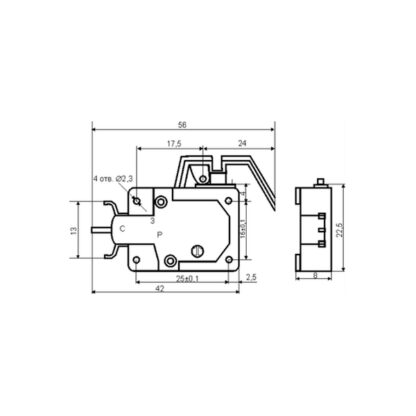 Схема микропереключателя МИ3А 2А 220В