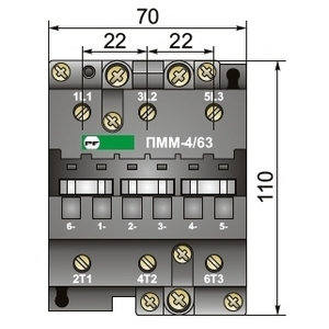 Габариты магнитного пускателя ПММ-4