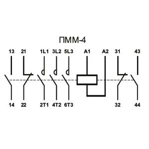 Электрическая схема пускателя ПММ-4