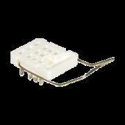 тип 1 – для крепления розетки к панели при помощи винтов с задним присоединением проводников пайкой