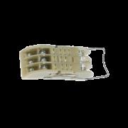 тип 2 – для крепления розетки к панели при помощи защелки с передним присоединением проводников винтами