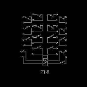 Схема подключения реле РП 8 220В