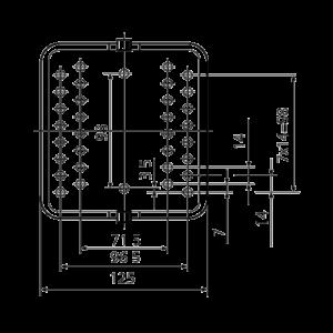 Габаритные и установочные размеры промежуточного реле РП8 220В