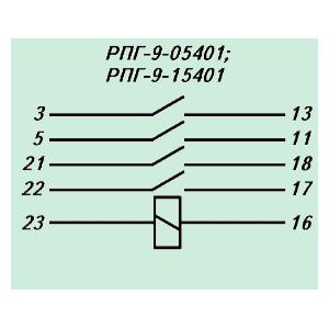 Электрическая схема реле РПГ-9 15401У3