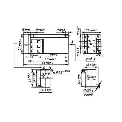 Схема указательного реле РУ-1