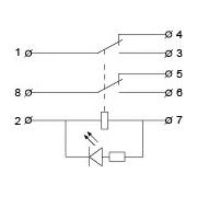 Схема промежуточного реле MK2P