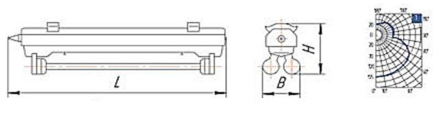 Схема светильника ПВЛМ 2х40