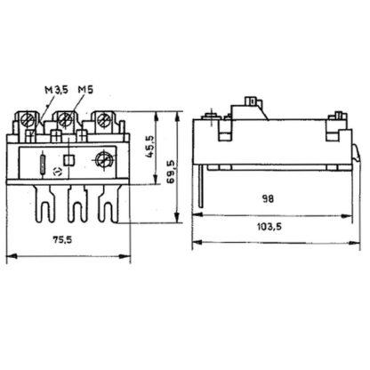 Схема теплового реле IR2/1 25-40A TGL 29381