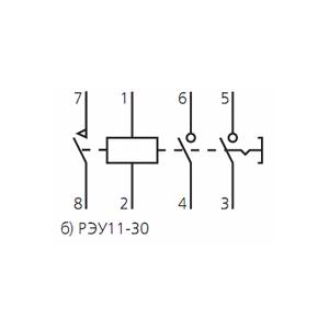 Схема подключения реле указательногоРЭУ-11-30