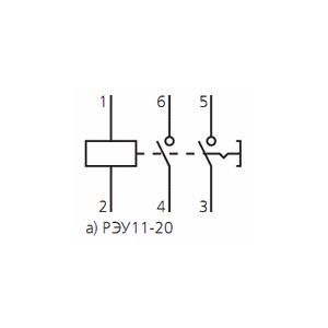 Схема подключения реле указательногоРЭУ-11-20 230В 60Гц