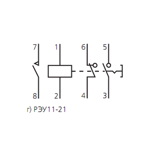 Схема подключения реле указательногоРЭУ-11-21