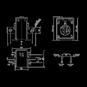 Габаритные и установочные размеры трансформатора Т-0,66-1 400/5А