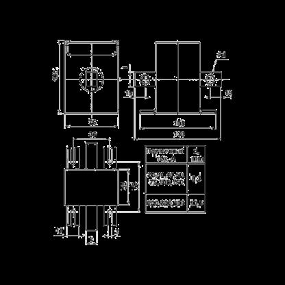 Габаритные и установочные размеры трансформатора Т-0,66
