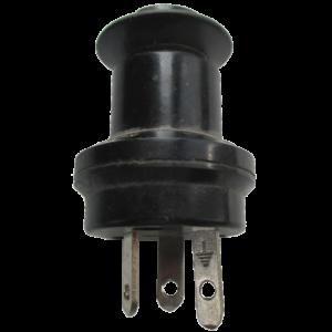 Вилка с плоскими контактами двухполюсная с заземляющим контактом 10А 220В разъем У-95 БА ВШ-П-20-IР43-01-10/220 У2
