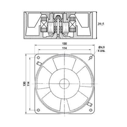Схема вентилятора ВН-2 220В 50Гц