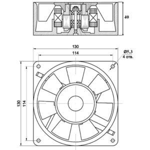 Схема вентилятора промышленного нагнетательного ВПН-1 (ВН-3) 220В 50Гц
